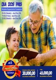 Aproveite o horário especial do comércio para o Dia dos Pais
