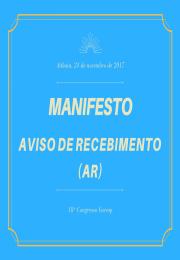 Manifesto da Federação das Associações Comerciais do Estado de São Paulo