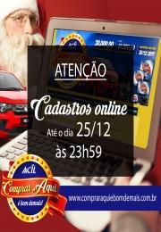 Atenção - Cadastro online de cupons será encerrado às 23h59 do dia 25/12