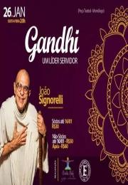 Empyreo e Yoga Shala Gisela Naif promovem Peça Teatral/Monólogo - Gandhi um líder servidor