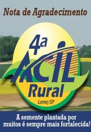 Nota de Agradecimento - 4ª Acil Rural