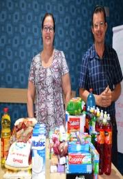 Acil doa produtos arrecadados em seus eventos à Creche Sagrada Família, Casa Betânia e Apae