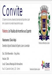 Leme receberá palestra sobre a Lei Paulista de Incentivo ao Esporte