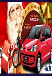 Carreata  com Papai Noel e os prêmios principais marcam início da Campanha de Natal - Comprar aqui é bom demais!