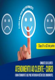 Conquiste seus clientes com o Curso - Atendimento ao Cliente nos dias 01 e 02/06