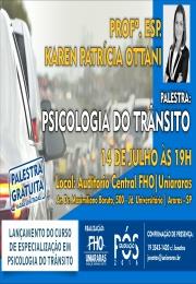 Palestra gratuita: Psicologia do Trânsito (FHO|Uniararas)