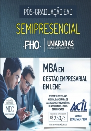 Curso de pós-graduação semipresencial na ACIL - MBA em Gestão Empresarial (FHO|Uniararas)