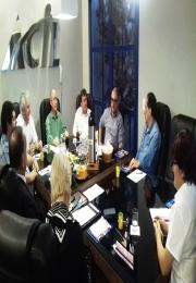 Acil e convidados se reúnem com representantes da Câmara de Indústria e Comércio do Mercosul e Américas