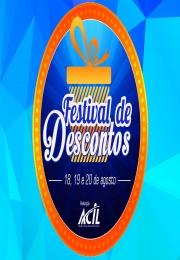 Aproveite, descontos imperdíveis! Festival de Desconto nos dias 18, 19 e 20 de Agosto - Conheça as lojas participantes