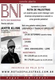 Palestra Liderança e Trabalho em Equipe com Amyr Klink