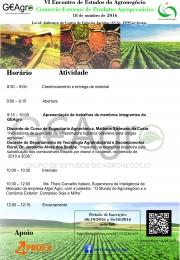 VI Encontro de Estudos do Agronegócio - GEAgro UFSCar/Araras