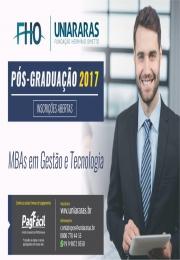 INSCRIÇÕES ABERTAS - Pós-Graduação e MBAs em Gestão e Tecnologia na UNIARARAS