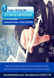 OPORTUNIDADE - Descubra o seu potencial nas tomadas de decisões com a Oficina SEI Empreender