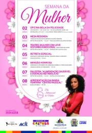 Confira a programação da Semana da Mulher!