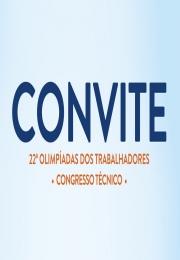 ATENÇÃO  - Convite 22ª Olimpíadas dos Trabalhadores - Congresso Técnico no dia 12/04