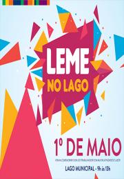 LEME NO LAGO em comemoração ao Dia do Trabalhador acontecerá no dia 1º e maio